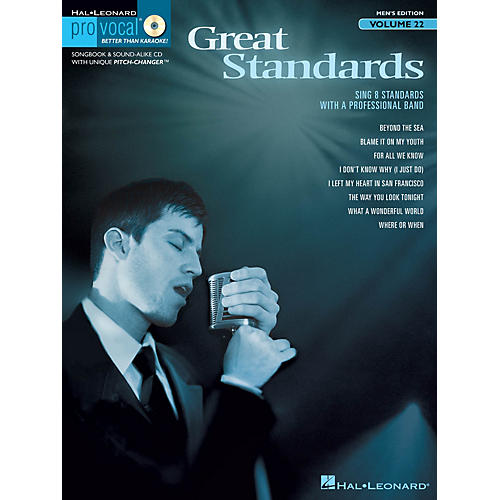 Hal Leonard Great Standards (Pro Vocal Men's Edition Volume 22) Pro Vocal Series Softcover with CD by Various-thumbnail