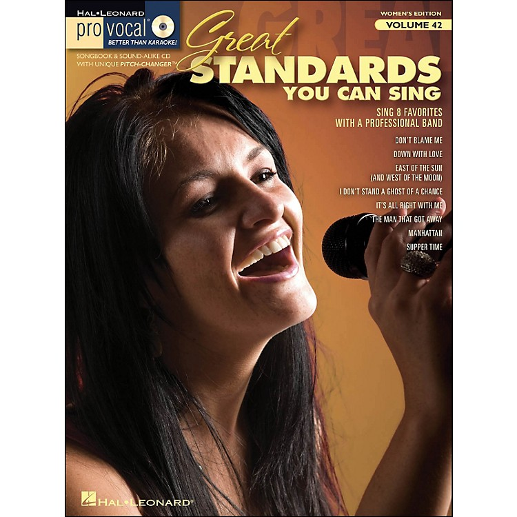 Hal LeonardGreat Standards You Can Sing - Pro Vocal Series Vol. 42 for Female Singers Book/CD