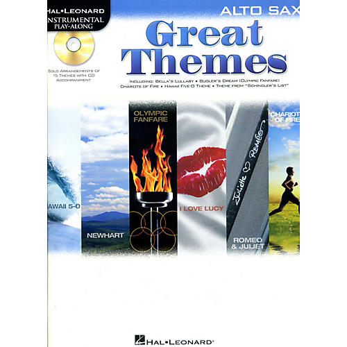Hal Leonard Great Themes - Instrumental Play-Along Book/CD Alto Sax