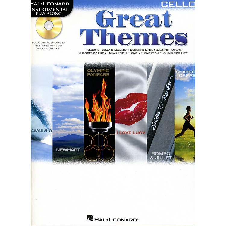 Cherry Lane Great Themes - Instrumental Play-Along Book/CD Cello