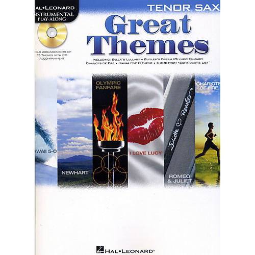 Hal Leonard Great Themes - Instrumental Play-Along Book/CD Tenor Saxophone