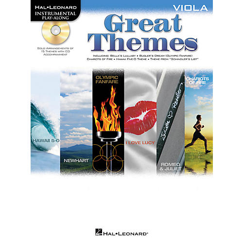 Hal Leonard Great Themes - Instrumental Play-Along Book/CD Viola
