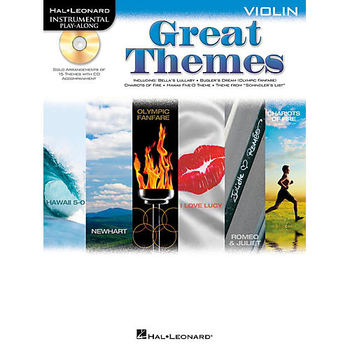 Hal Leonard Great Themes - Instrumental Play-Along Book/CD Violin