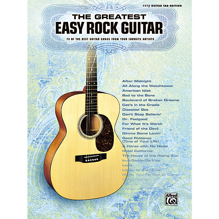 Alfred Greatest Easy Rock Guitar Tab Songbook