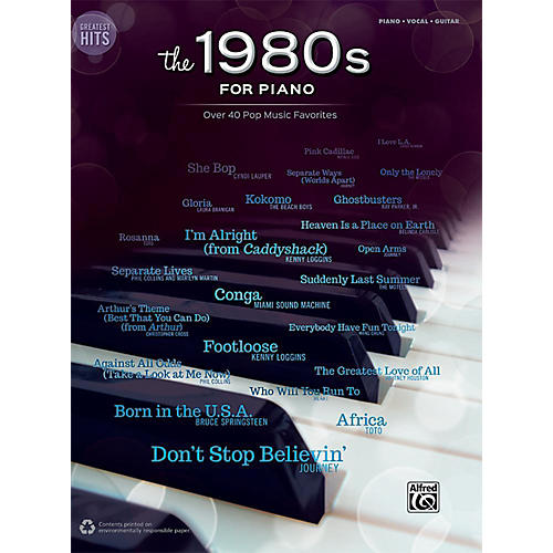 Alfred Greatest Hits: The 1980s for Piano - Piano/Vocal/Guitar Songbook-thumbnail
