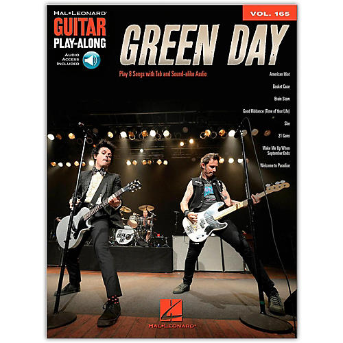 Hal Leonard Green Day - Guitar Play-Along Vol. 165 (Book/Audio Online)-thumbnail