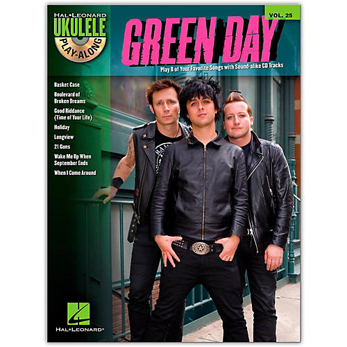 Hal Leonard Green Day - Ukulele Play-Along Vol. 25 Book/CD-thumbnail
