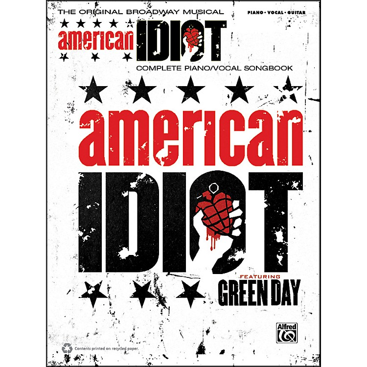 AlfredGreen Day American Idiot The Musical Piano/Vocal/Guitar