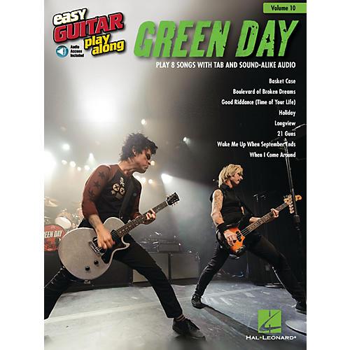 Hal Leonard Green Day (Easy Guitar Play-Along Volume 10) Easy Guitar Play-Along Series Softcover with CD by Green Day-thumbnail