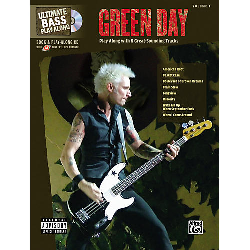 Alfred Green Day Ultimate Play-Along Bass Guitar Tab Songbook with Enhanced CD