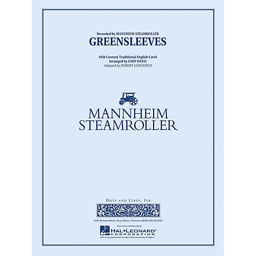 Mannheim Steamroller Greensleeves Concert Band Level 3 Arranged by Chip Davis
