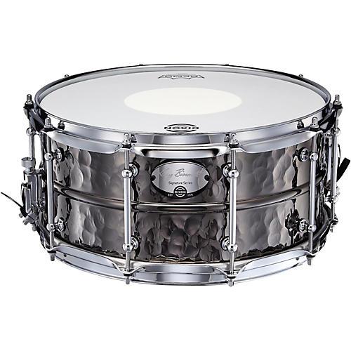 Dixon Gregg Bissonette Hammered Brass Signature Snare Drum 14 x 6.5 in.-thumbnail