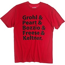 DW Grohl and Peart Artists T-Shirt Red Small