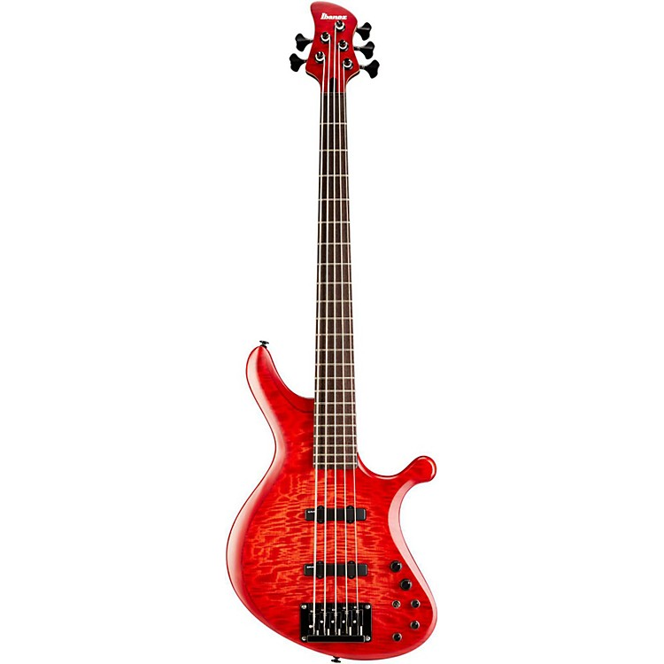 Ibanez Grooveline G205 Electric Bass Guitar Ruby Burst Flat