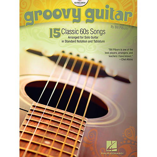 Hal Leonard Groovy Guitar (15 Classic '60 Songs) Guitar Solo Series Softcover with CD Performed by Various-thumbnail