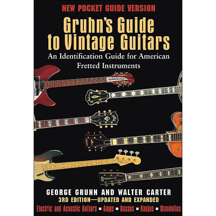 Backbeat Books Gruhn's Guide To Vintage Guitars - Pocket Edition