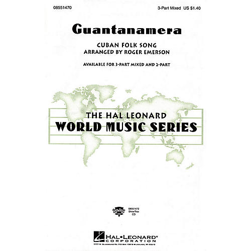 Hal Leonard Guantanamera 3-Part Mixed arranged by Roger Emerson