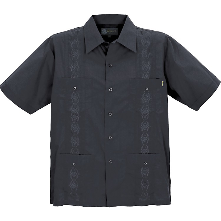 dragonfly clothing company guayabera men 39 s shirt black