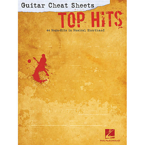 Hal Leonard Guitar Cheat Sheets: Top Hits Cheat Sheets Series Softcover Performed by Various-thumbnail