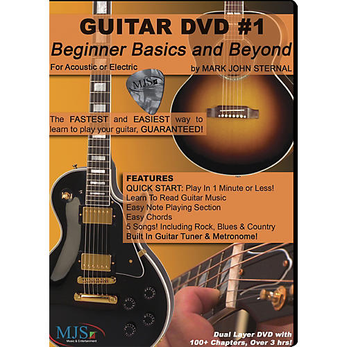 MJS Music Publications Guitar DVD #1 Beginner Basics and Beyond