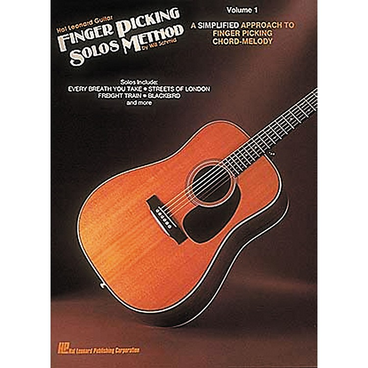 Hal LeonardGuitar Finger Picking Solos Method Volume 1 Book