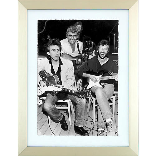 Mirrorpix Guitar Gods Framed Black and White Print-thumbnail