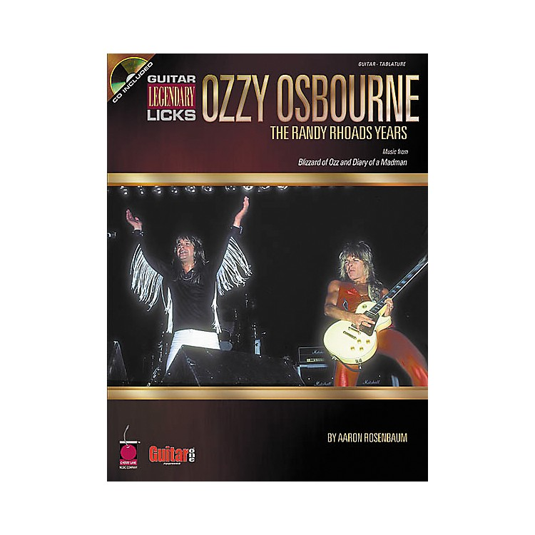 Cherry Lane Guitar Legendary Licks Ozzy Osbourne The Randy Rhoads Years Book with CD