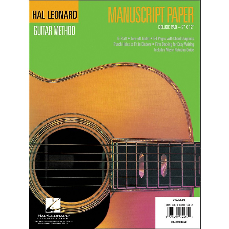 Hal LeonardGuitar Manuscript Paper Deluxe Pad (9 X 12)
