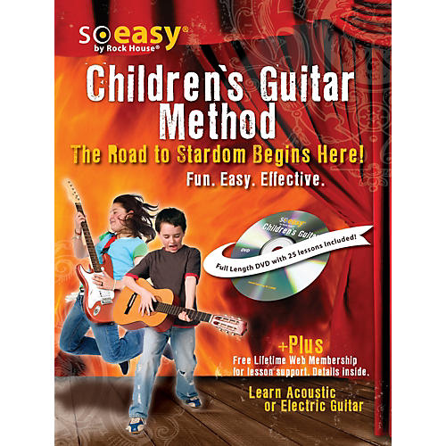 Hal Leonard Guitar Method for Kids, The Road to Stardom Starts Here! Learn Electric or Acoustic Guitar Book/DVD