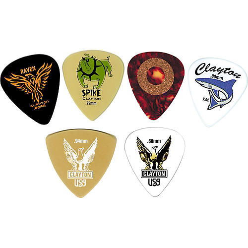 Clayton Guitar Pick Variety Pack