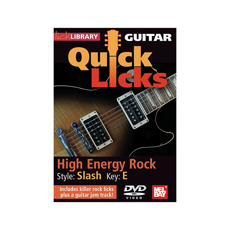 Hal Leonard Guitar Quick Licks - Slash Style, High Energy Rock (DVD)