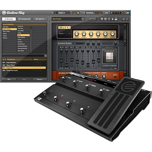 Native Instruments Guitar Rig 4 KONTROL Edition - Software/Hardware Combo