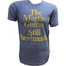 Martin Guitar Still Handmade - Royal T-Shirt with Gold Logo