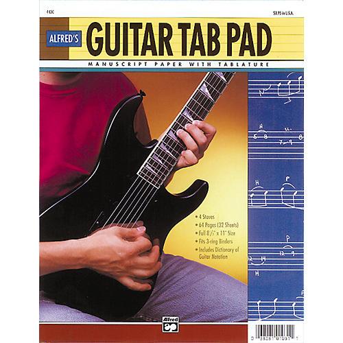 Alfred Guitar TAB Pad (8-1/2