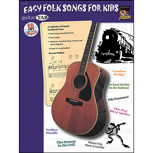 Alfred Guitar Tab: Easy Folk for Kids Book/CD