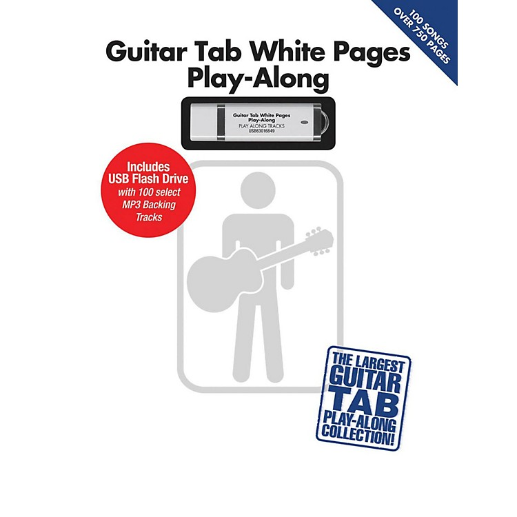 Hal Leonard Guitar Tab White Pages Play-Along Book/USB