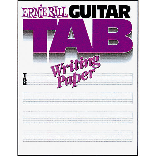 Ernie Ball Guitar Tab Writing Paper : Musicianu0026#39;s Friend