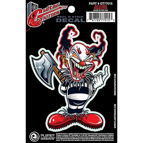 D'Addario Planet Waves Guitar Tattoo Decal Ax Clown