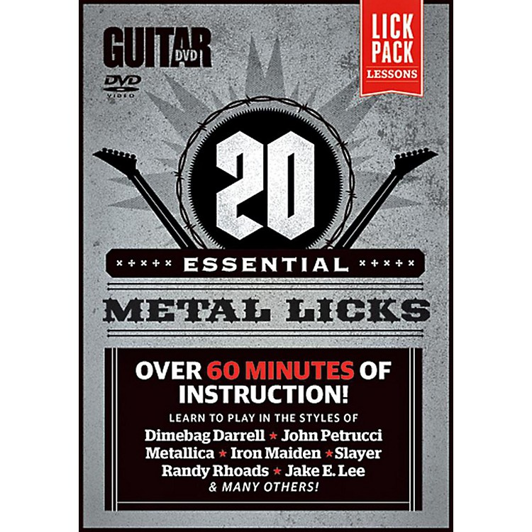 AlfredGuitar World 20 Essential Metal Licks DVD