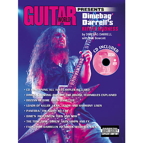 Alfred Guitar World Presents Dimebag Darrell's Riffer Madness Book with CD