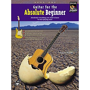 alfred guitar for the absolute beginner book 1 with dvd musician 39 s friend. Black Bedroom Furniture Sets. Home Design Ideas
