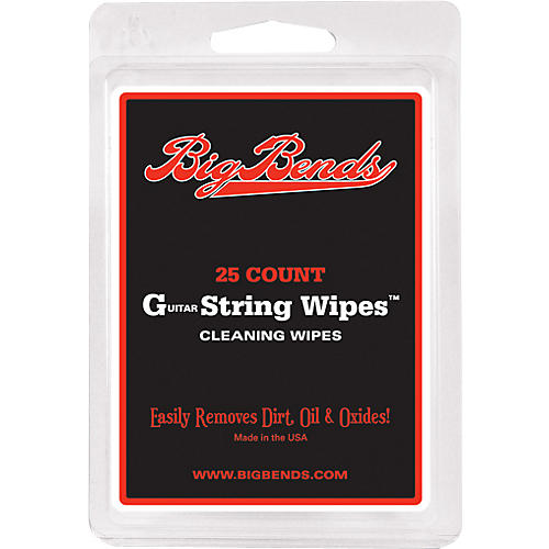 Big Bends Guitar string wipes Large
