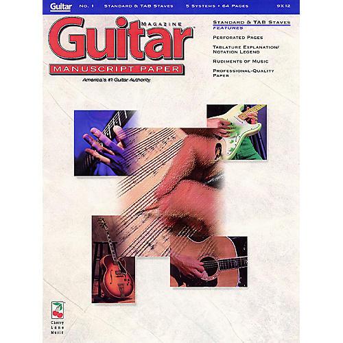 Cherry Lane Guitar(TM) Magazine Manuscript Paper - #1 Standard & Tab Staves - 9 inch. x 12 inch. Guitar Book Series-thumbnail