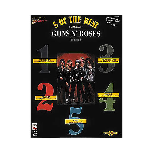 Cherry Lane Guns N' Roses - 5 of the Best for Guitar Volume 1 Book