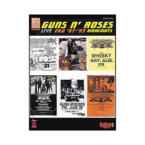 Cherry Lane Guns N' Roses - Live Era 1987-1993 Highlights Book