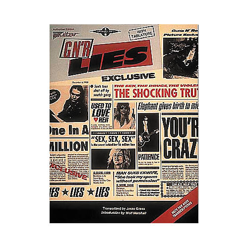 Cherry Lane Guns N' Roses Lies Guitar Tab Songbook