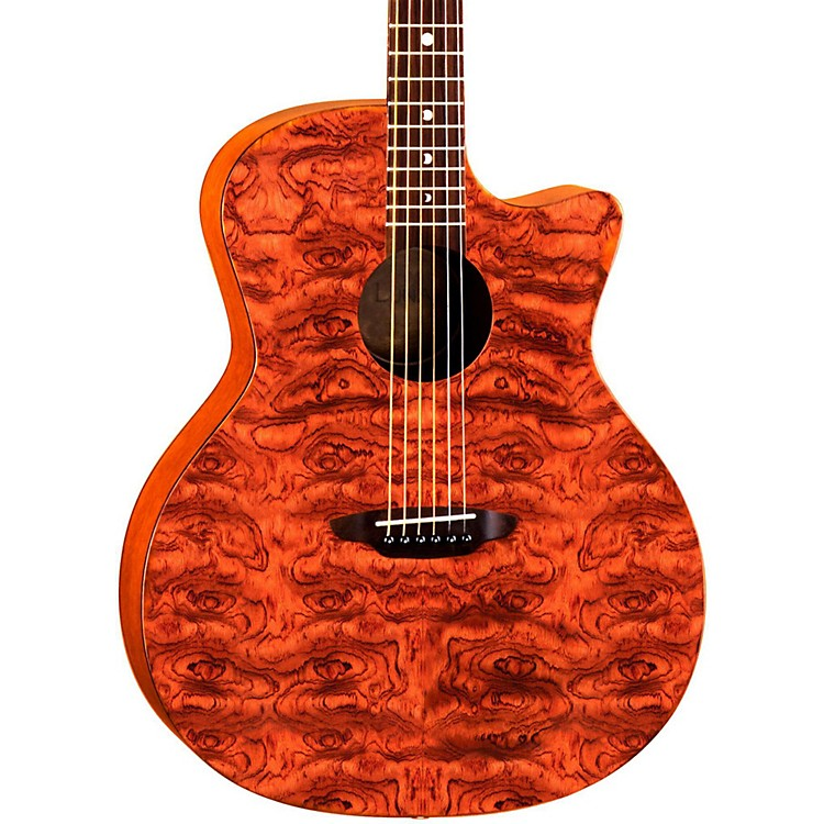 Luna Guitars Gypsy Acoustic Guitar Natural Bubinga