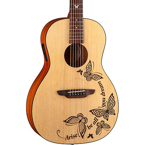 Luna Guitars Gypsy Dream Parlor Acoustic-Electric Guitar Natural