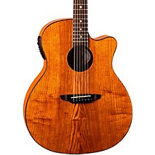 Luna Guitars Gypsy Grand Concert Ash Acoustic-Electric Guitar Natural