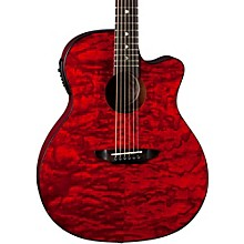 Luna Guitars Gypsy Grand Concert Ash Acoustic-Electric Guitar Transparent Red